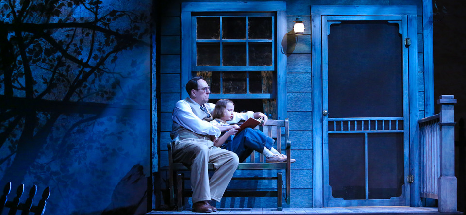Dawn Kellogg Skip Greer And Erin Mueller In To Kill A Mockingbird Geva Theatre Center 2016